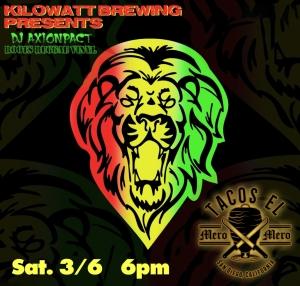 DJ AXIONPACT Spinning Roots Reggae & Dub Vinyl @ The Beer Garden @ Kilowatt Brewing Kearny Mesa