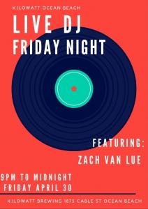 DJ Zac Van Lue Live Eclectic DJ Set @ Kilowatt Brewing Ocean Beach